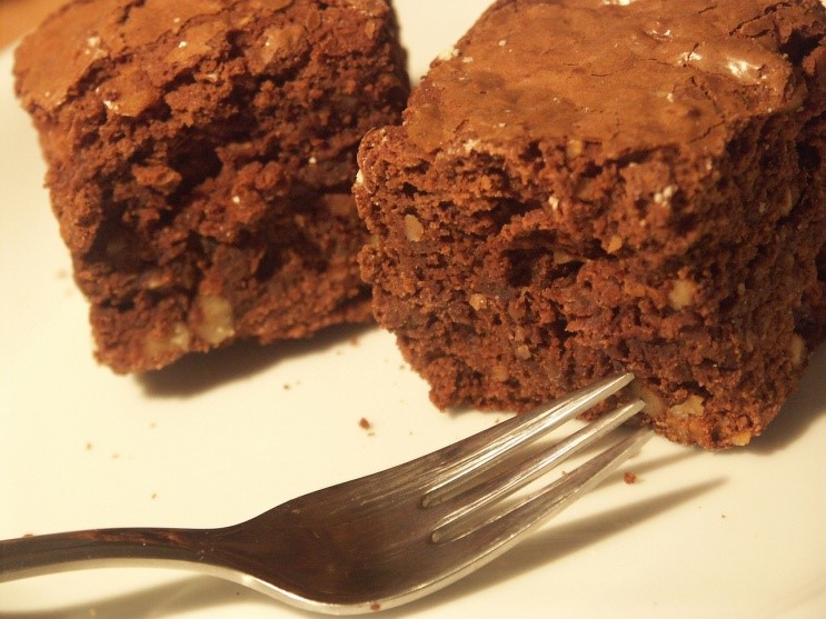 Cocoa Black Bean Brownies